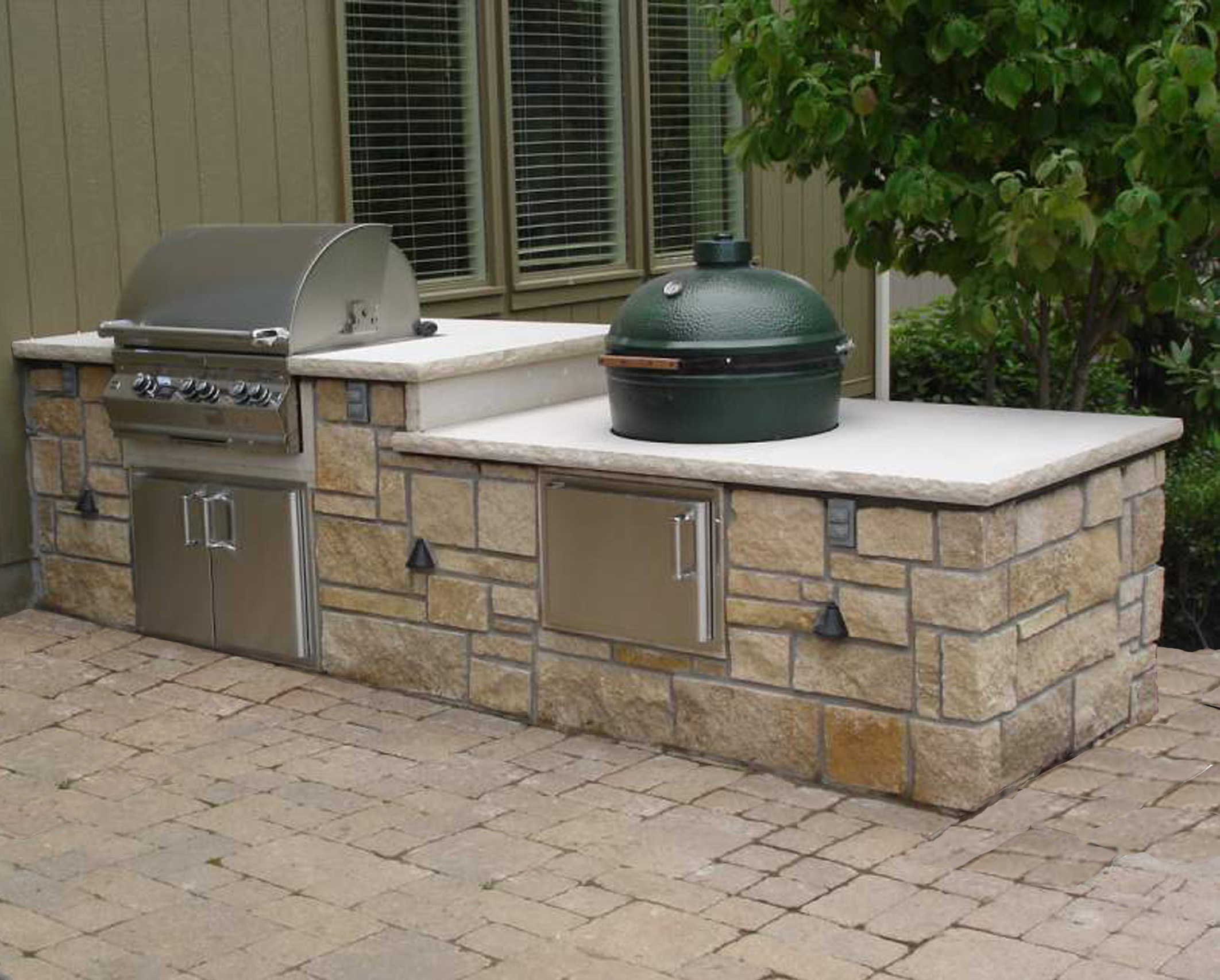 Modular Outdoor Kitchens Lowes Outdoor Living Fox Valley Stone Brick