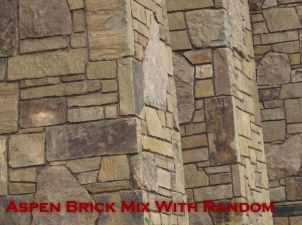 Natural stone fox valley stone brick for Mixing brick and stone