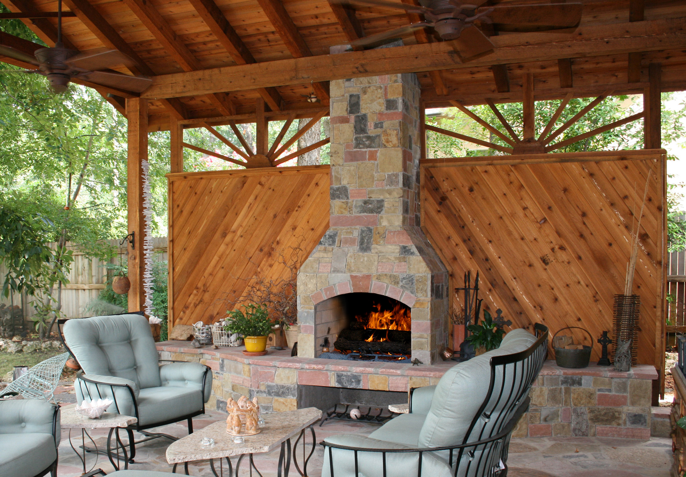 tuscany oven side water and fireplace with sierra a pin features pizza outdoor unilock